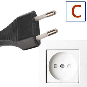 Typ elektrickej zástrčky C