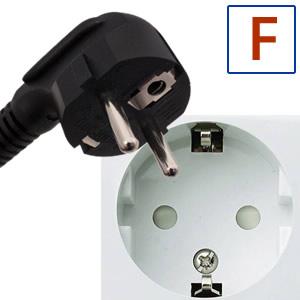 Typ elektrickej zástrčky F