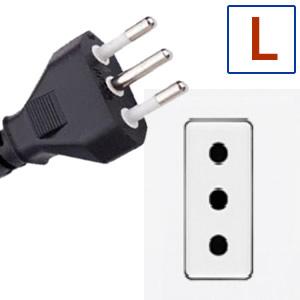 Type de prise électrique L