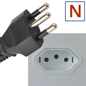 Typ elektrické zástrčky N